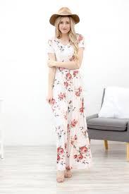 floral maxi dress ivory floral maxi dress my s closet boutique