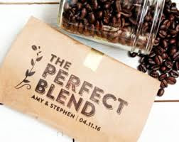 coffee wedding favors wedding favor coffee bag the blend budget favor