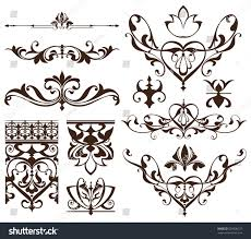deco design elements vintage ornaments stock vector 599530127