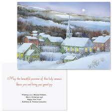 snowy evening note card size christmas cards colorful images