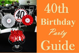40th birthday party ideas that are splendid for your beloved wives