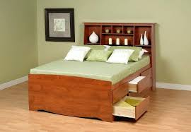 King Size Wood Headboard Bookcase Headboard King Size Image Of Black King Size Platform Bed