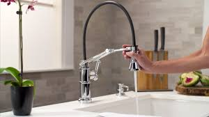 brizo faucets kitchen the articulating kitchen faucet by brizo