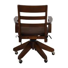 Buy Desk Chair by Decor Design For Wooden Swivel Office Chair 113 Vintage Wooden
