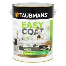 taubmans easycoat interior wall paint 2l semi gloss white