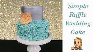 simple ruffle wedding cake how to youtube