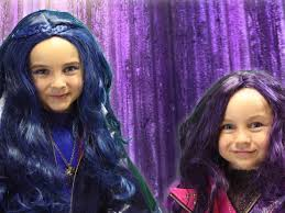mal hair descendants mal evie and maleficent makeup for halloween this