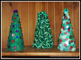 Home Button Decorations by 3 Easy Mini Christmas Tree Decorations Stay At Home Life