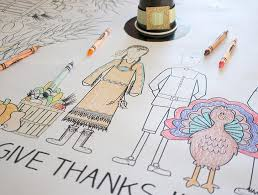 thanksgiving coloring tablecloth the crafting