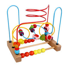 counting circles bead abacus wire maze roller coaster wooden
