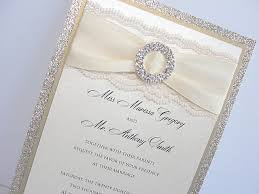 wedding invitations lace lace wedding invitations glitter wedding invitations