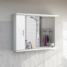 White Bathroom Mirror by Sienna White 105 Mirror With Lights Victoriaplum Com