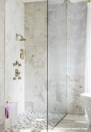 corner shower with mosaic shower floor contemporary bathroom