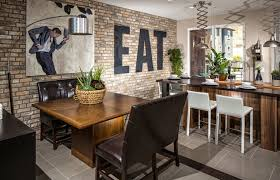 The Brick Dining Room Furniture Sky Loft Thin Brick Interior Contemporary Dining Room Los
