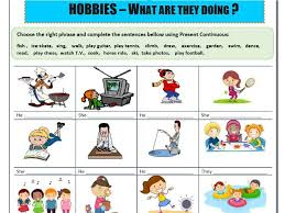 present continuous worksheets x 3 by mariapht teaching resources