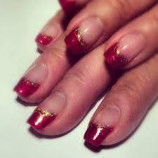 red glitter french tip nails nail art free image nail art
