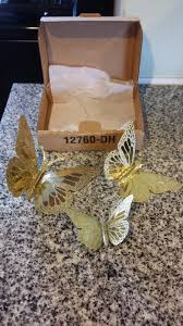 new homco home interiors and gifts monarch brass butterfly