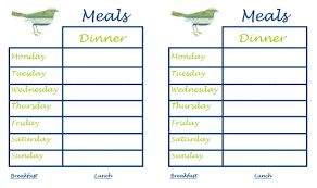 lunch menu template free printable monthly menu calendar template