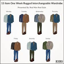 Mens Rugged Fashion 162 Rugged From 15 Casual Pieces Interchangeable