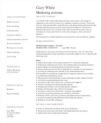 sample resume for marketing assistant resume examples templates