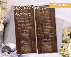 personalized wedding programs printable personalized wedding program barnboard antler