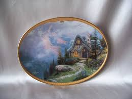 kinkade of serenity rainbows end cottage plate sold