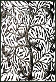 Wall Decor Metal Tree Metal Tree Of Life Wall Art Haitian Steel Drum Art Wall Decor