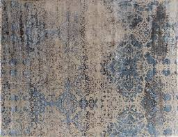 8x11 Area Rugs Beige Blue Distressed Damask 8x11 Area Rugs Carpets