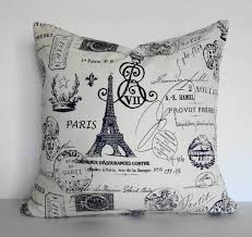 shabby chic eiffel tower decorative pillow cushion french