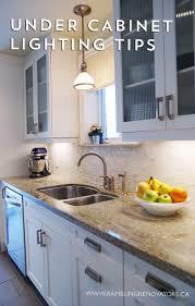 counter kitchen cabinet lights rambling renovators cabinet lighting options