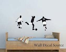 soccer wall decal football wall decal vinyl wall decal zoom