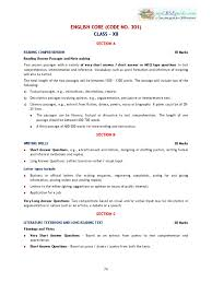 2016 syllabus 12 english core reading comprehension communication