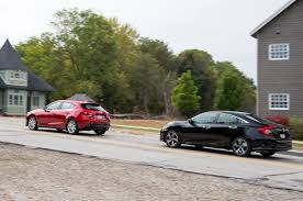 mazda small cars 2016 2016 honda civic touring vs 2016 mazda3 s grand touring comparison
