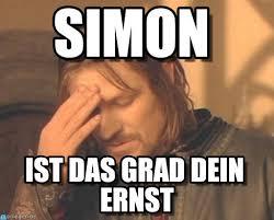 Simon Meme - simon frustrated boromir meme on memegen