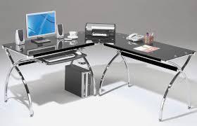 L Shape Office Desk by Marvelous Glass L Shaped Office Desk Minimalist Black Tinted Glass