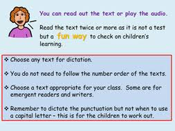 30 differentiated texts sentences for dictation audio