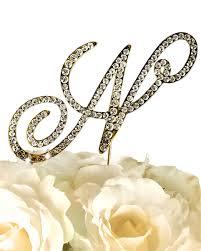 rhinestone monogram cake topper collection rhinestone monogram cake topper in gold letter n