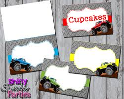 printable monster name tags monster truck food tents monster truck buffet labels