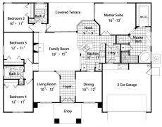 4 bedroom house blueprints 4 bedroom house floor plans capitangeneral