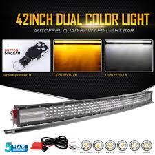 curved marine led light bar upgraded curved 4 rows led light bar 42 inch 2880w flood spot combo