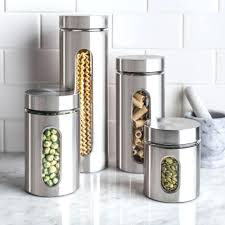 oggi kitchen canisters stainless steel canister set chargersteve