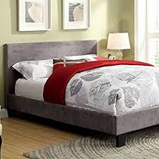 California King Size Platform Bed Frame - amazon com winn contemporary style gray fabric finish cal king