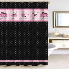 White With Pink Polka Dot Curtains Polka Dot Shower Curtains Ebay
