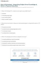 quiz u0026 worksheet integrating subject area knowledge u0026 skills in