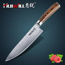 damascus steel kitchen knives huiwill quality 8 japanese vg10 damascus steel kitchen chef