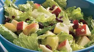 romaine salad with apples and cranberries recipe bettycrocker