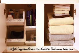Under Cabinet Drawers Bathroom by Hdydi Organize Under The Cabinet Bathroom Toiletries Team Whitaker