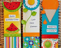 kids crafting u2013 summer bookmarks