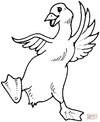 goose dance coloring page free printable coloring pages