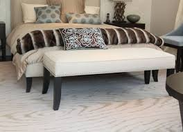 Bedroom Bench Seats Bench Awesome Seating Gold Frame Bedroom Pertaining To White